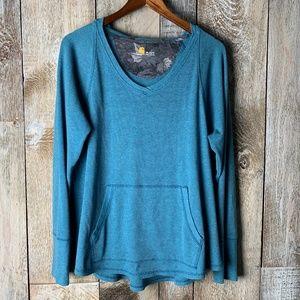 Carhartt Waffle Thermal Blue Hoodie Jumper Sweater